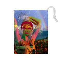 Fusion With The Landscape Drawstring Pouch (Large)
