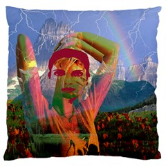 Fusion With The Landscape Large Flano Cushion Case (two Sides)