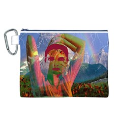 Fusion With The Landscape Canvas Cosmetic Bag (large)