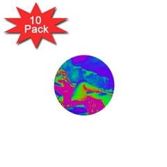 Seaside Holiday 1  Mini Button (10 Pack)