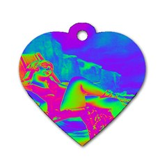 Seaside Holiday Dog Tag Heart (two Sided)
