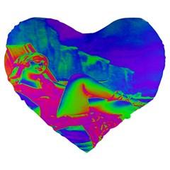 Seaside Holiday 19  Premium Heart Shape Cushion