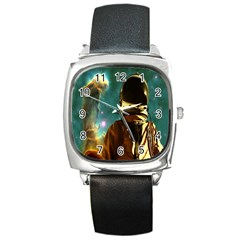Lost In The Starmaker Square Leather Watch