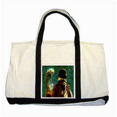 Lost In The Starmaker Two Toned Tote Bag