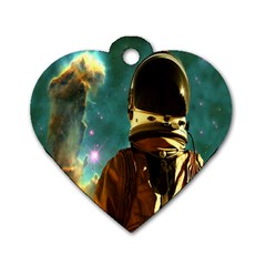 Lost In The Starmaker Dog Tag Heart (two Sided)