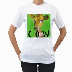 Cow Women s T-Shirt (White)