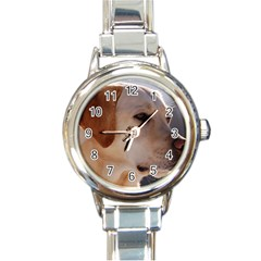 3 Labrador Retriever Round Italian Charm Watch