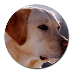 3 Labrador Retriever 8  Mouse Pad (Round)