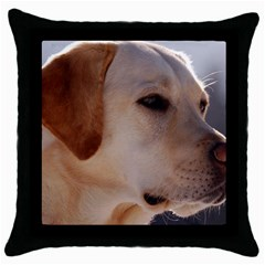 3 Labrador Retriever Black Throw Pillow Case