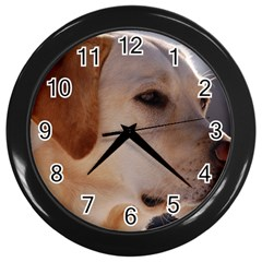 3 Labrador Retriever Wall Clock (Black)