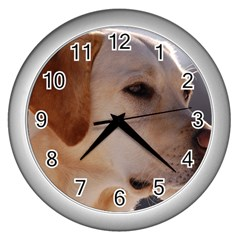 3 Labrador Retriever Wall Clock (Silver)