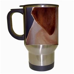 3 Labrador Retriever Travel Mug (White)