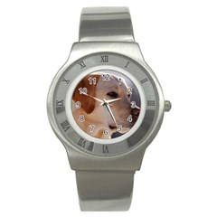 3 Labrador Retriever Stainless Steel Watch (Slim)