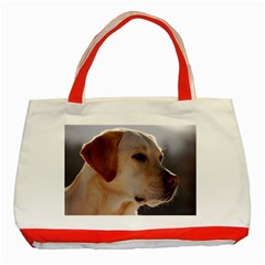 3 Labrador Retriever Classic Tote Bag (Red)