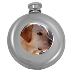 3 Labrador Retriever Hip Flask (Round)