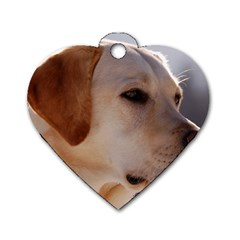 3 Labrador Retriever Dog Tag Heart (One Sided)