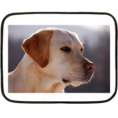 3 Labrador Retriever Mini Fleece Blanket (Two Sided)