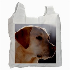 3 Labrador Retriever White Reusable Bag (One Side)