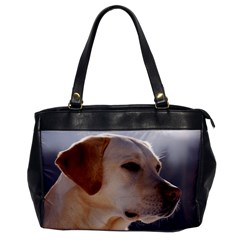 3 Labrador Retriever Oversize Office Handbag (One Side)