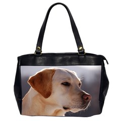 3 Labrador Retriever Oversize Office Handbag (Two Sides)
