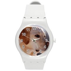 3 Labrador Retriever Plastic Sport Watch (Medium)