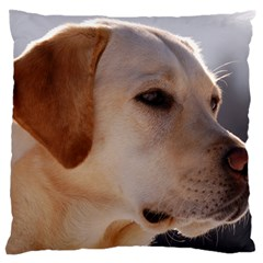 3 Labrador Retriever Large Flano Cushion Case (One Side)