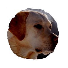 3 Labrador Retriever 15  Premium Flano Round Cushion