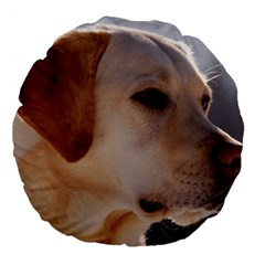 3 Labrador Retriever 18  Premium Flano Round Cushion