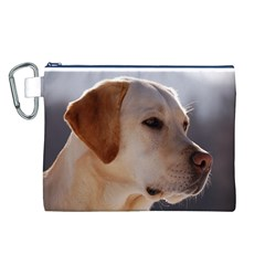 3 Labrador Retriever Canvas Cosmetic Bag (Large)