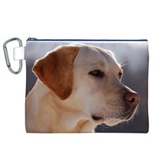 3 Labrador Retriever Canvas Cosmetic Bag (XL)