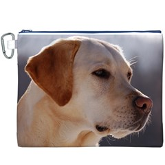 3 Labrador Retriever Canvas Cosmetic Bag (XXXL)