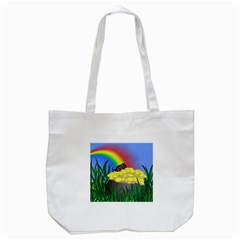 Pot Of Gold With Gerbil Tote Bag (White)
