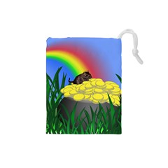 Pot Of Gold With Gerbil Drawstring Pouch (small)