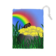 Pot Of Gold With Gerbil Drawstring Pouch (Large)