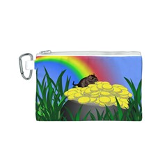 Pot Of Gold With Gerbil Canvas Cosmetic Bag (small)