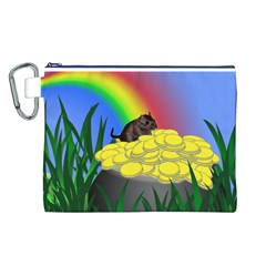 Pot Of Gold With Gerbil Canvas Cosmetic Bag (Large)