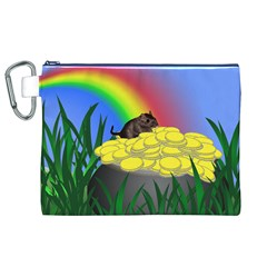 Pot Of Gold With Gerbil Canvas Cosmetic Bag (XL)