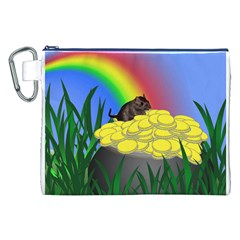 Pot Of Gold With Gerbil Canvas Cosmetic Bag (XXL)
