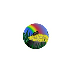 Pot Of Gold With Gerbil 1  Mini Button Magnet