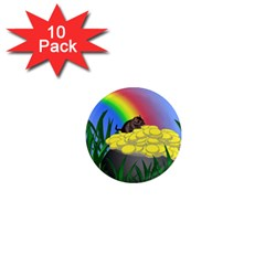 Pot Of Gold With Gerbil 1  Mini Button Magnet (10 Pack)