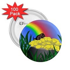 Pot Of Gold With Gerbil 2 25  Button (100 Pack)