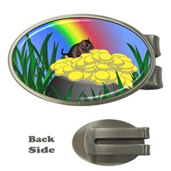 Pot Of Gold With Gerbil Money Clip (oval)