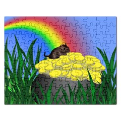 Pot Of Gold With Gerbil Jigsaw Puzzle (rectangle)
