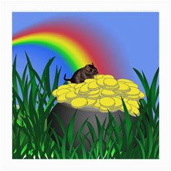 Pot Of Gold With Gerbil Glasses Cloth (Medium, Two Sided)