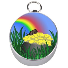 Pot Of Gold With Gerbil Silver Compass