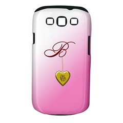 B Golden Rose Heart Locket Samsung Galaxy S Iii Classic Hardshell Case (pc+silicone)