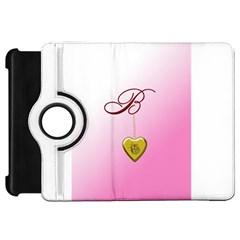 B Golden Rose Heart Locket Kindle Fire Hd Flip 360 Case