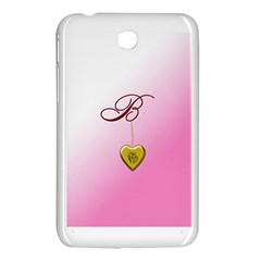 B Golden Rose Heart Locket Samsung Galaxy Tab 3 (7 ) P3200 Hardshell Case