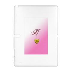 B Golden Rose Heart Locket Samsung Galaxy Note 10 1 (p600) Hardshell Case