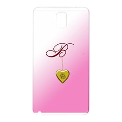 B Golden Rose Heart Locket Samsung Galaxy Note 3 N9005 Hardshell Back Case
